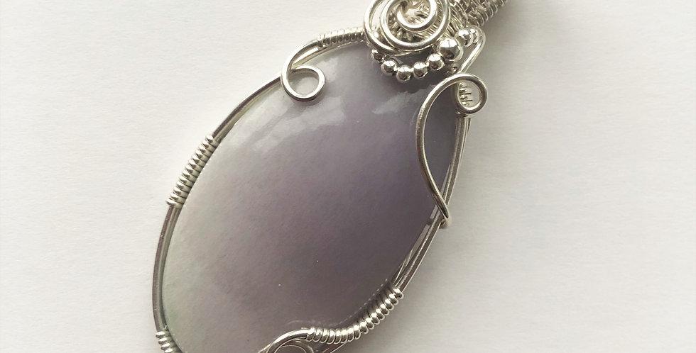 Yttrium Fluorite Oval in Silver