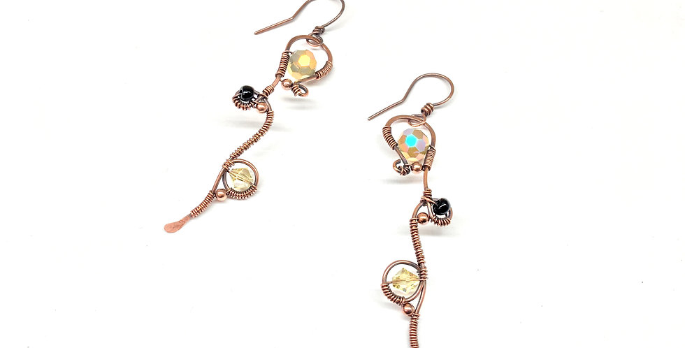 Long Whimsical Copper Loops & Beads 2