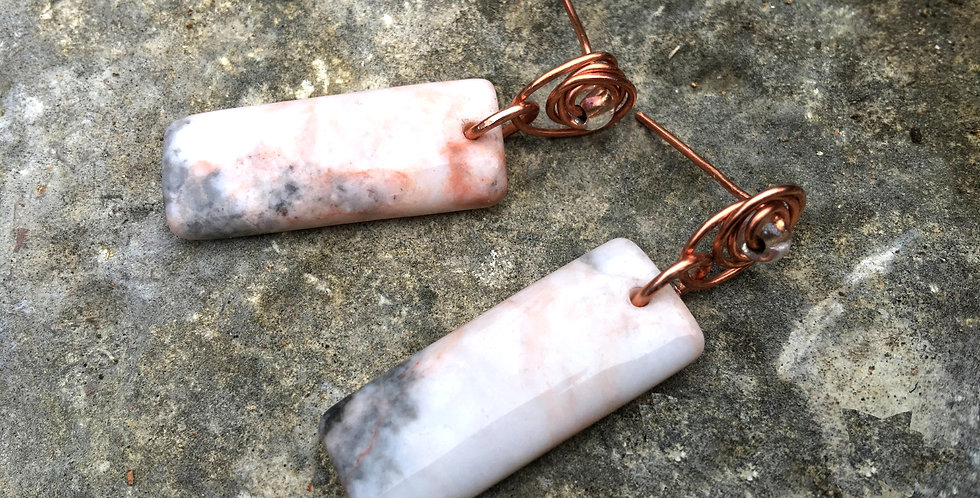 Jasper Rectangles & Bright Copper