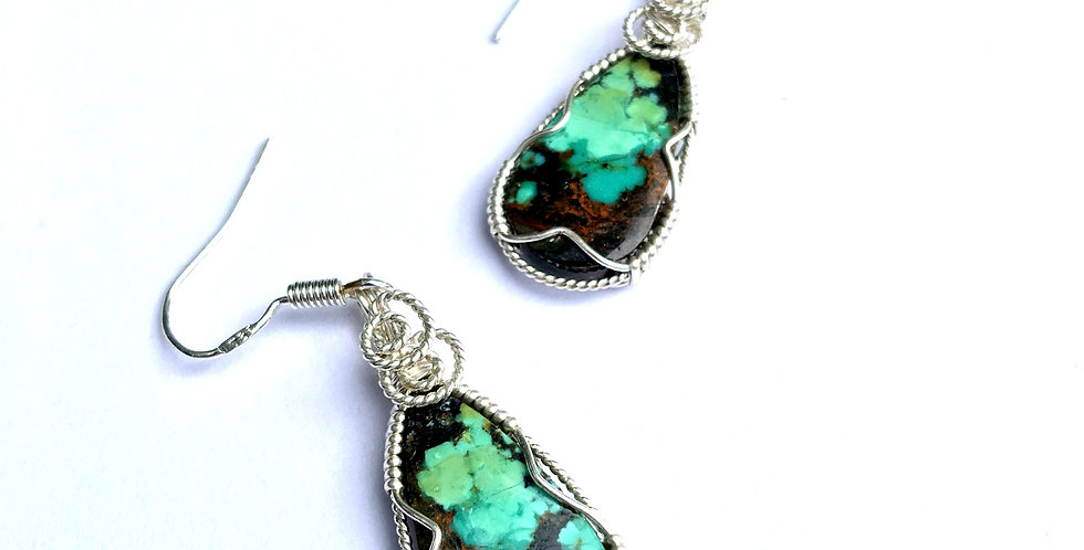 Tibetan Turquoise in Sterling Silver