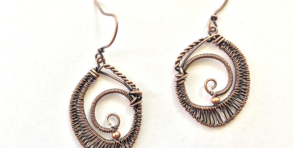 Woven Copper Oval Shapes