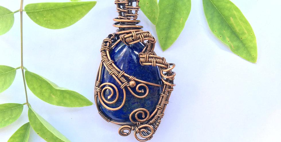 Blue Lapis Lazuli Teardrop in Copper