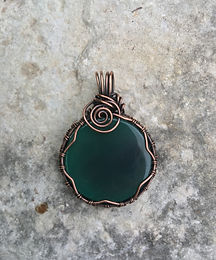 adornmentsbymae, custom work, copper wire wrapping, sea sediment jasper