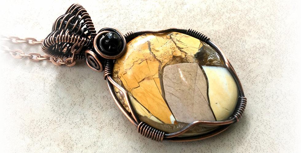 Breccated Mookaite Jasper Oval
