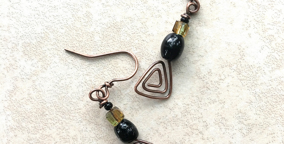 Glass Beads & Triangle