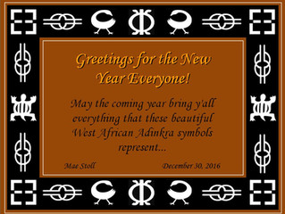 New Year's Greetings in Adinkra