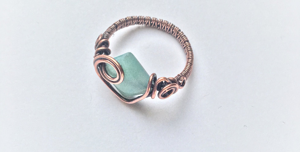 Amazonite Square Bead Sz 7