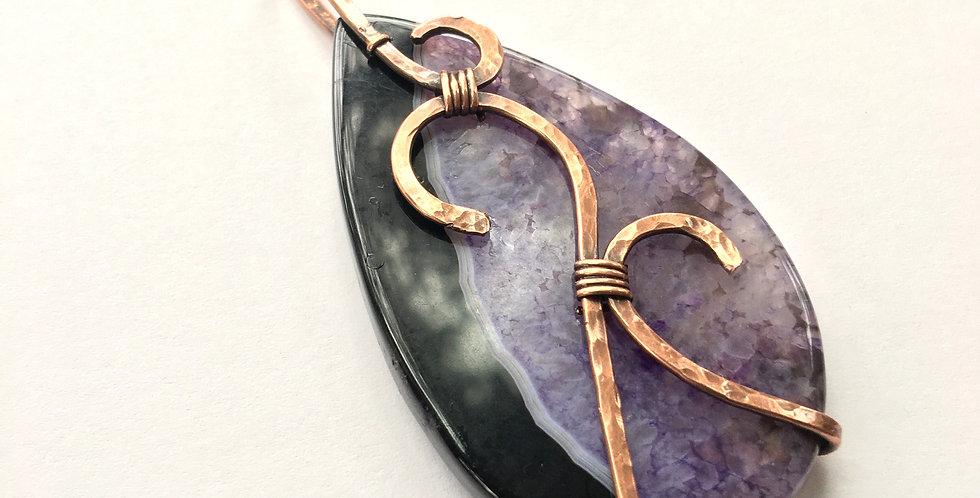 Black & Purple Onyx Druzy