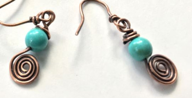 Tiny Turquoise Beads & Spirals