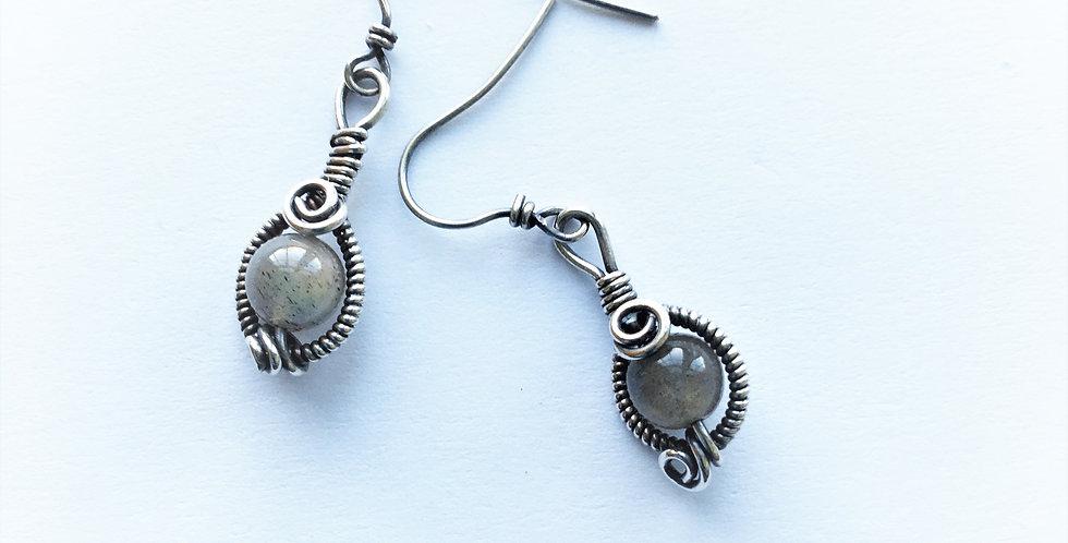Labradorite Beads in Silver
