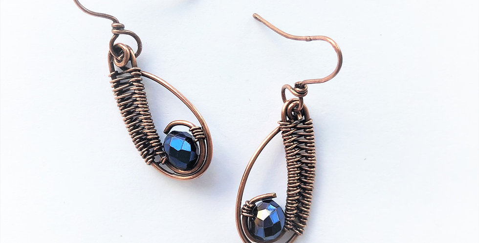 Faceted Glass Teardrops