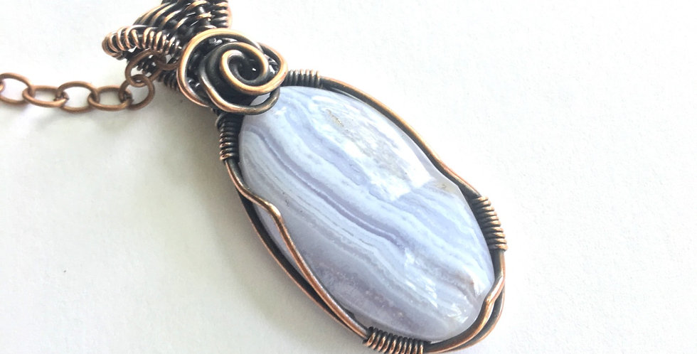 Blue Lace Agate Small Oval