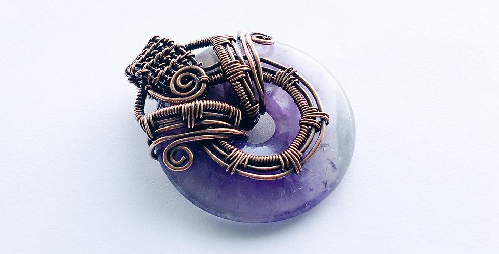 Amethyst Donut Pendant
