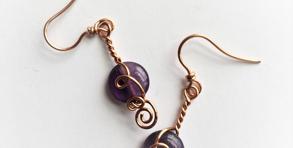 Amethyst Flat Beads