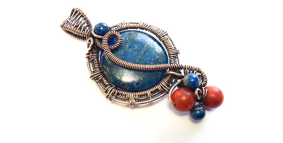 Blue Lapis Lazuli & Coral Folly