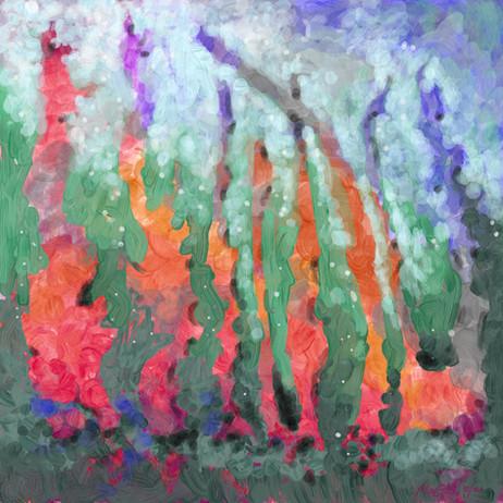 Underwater Color Dance