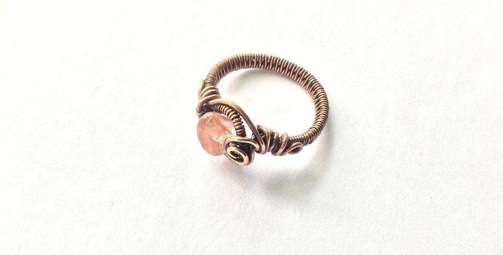 Cherry Quartz Ring Sz. 6 1/2
