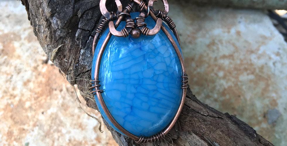 Blue Dragon Vein Agate in Copper