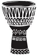 Djembe bongo hand drum, drum circles, Austin ComeDrumForFun, Mae Stoll, Drum Circle facilitator