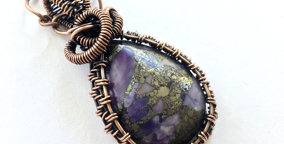 Purple Matrix Turquoise & Pyrite