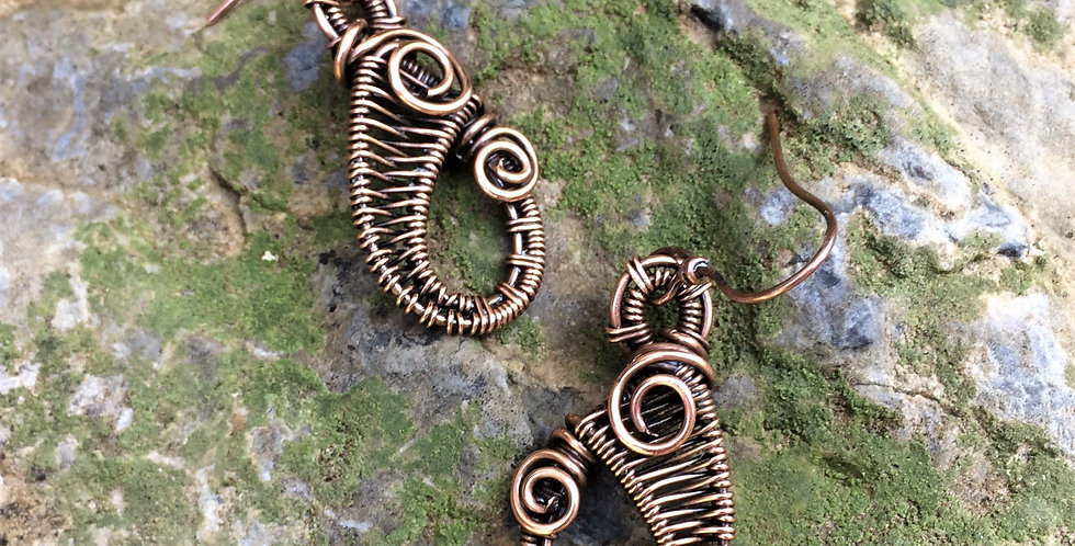 Woven Copper Loops - Med