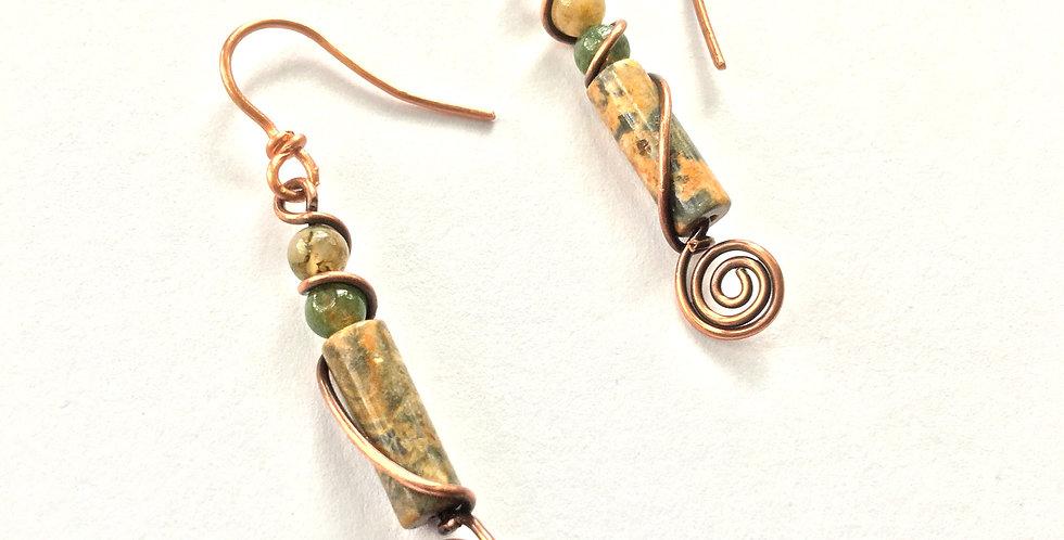 Snakeskin Jasper & Moss Agate