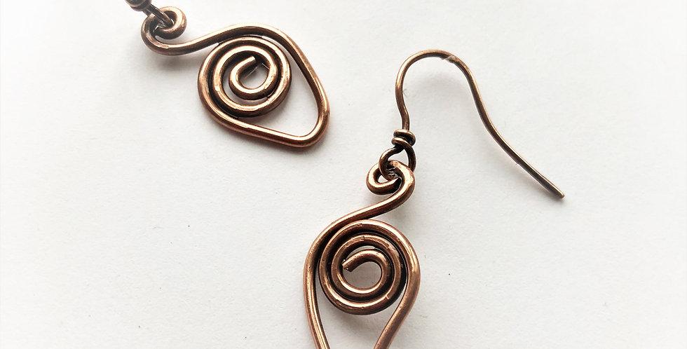 Thick Wire Pointy Spirals