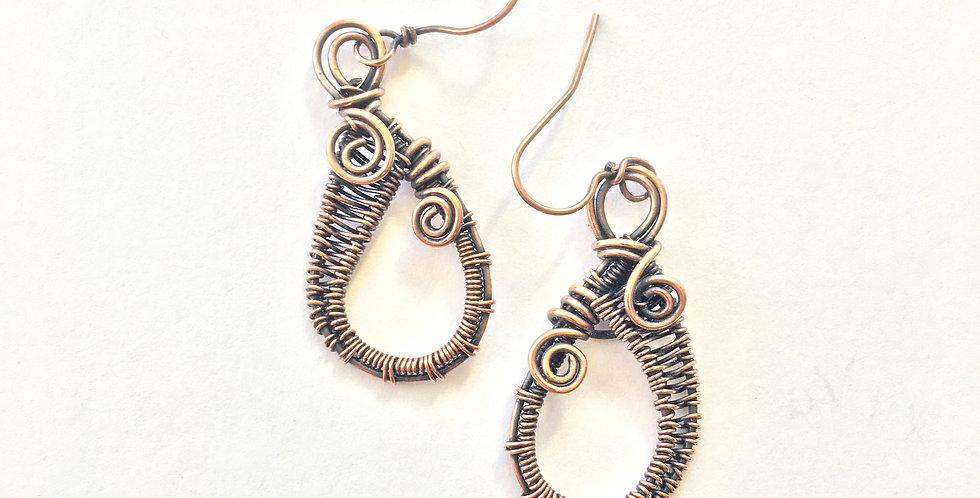 Copper Weave Teardrops