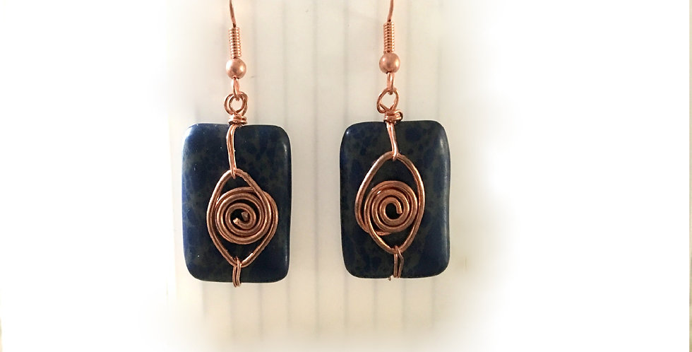 Rectangular Jasper Bead & Copper