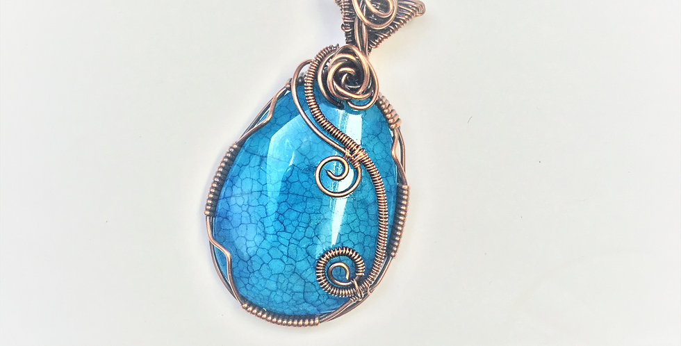 Blue Dragon Vein Agate