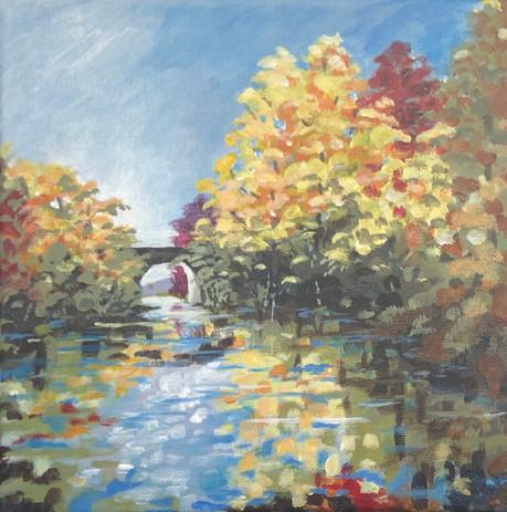 Fall Near a Bridge