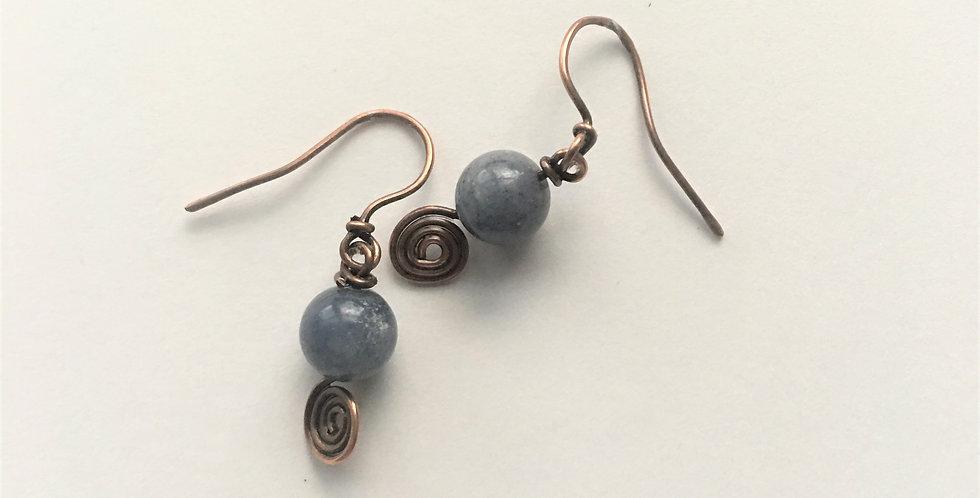 Blue Aventurine & Spirals