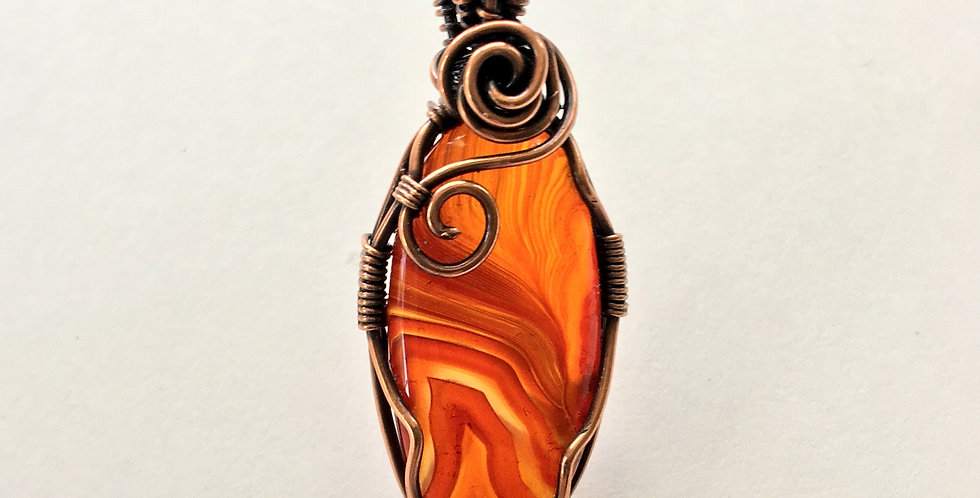 Amber-colored Agate Oval