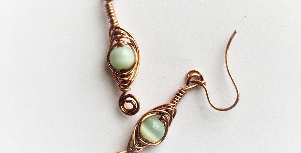 Green Cat's Eye Beads
