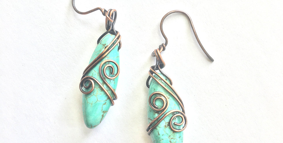 Turquoise Marquise & Copper