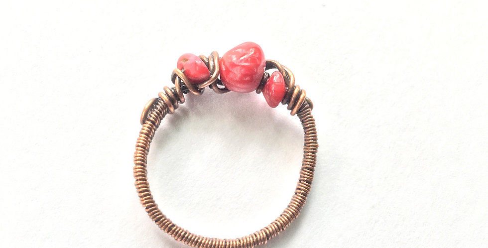 Coral 3 Chip Ring Sz. 12 1/2