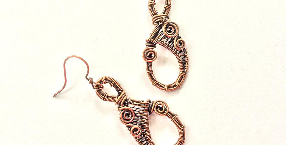 Tall Copper Weave Teardrops