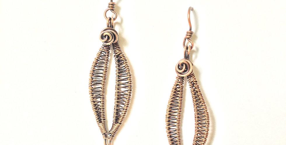 Leaf Shape & Rosette Copper Weave