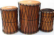 Set of West African Djuns (dun duns) - fun and easy to play!  Come Drum For Fun, ComeDrumForFun, Austin hand drumming classes