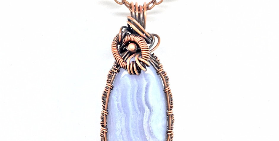 Blue Lace Agate Tall Oval 2