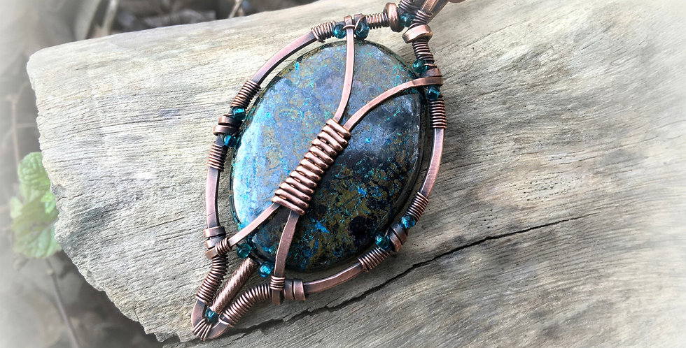 "Azurite Oval ""Amulet"""