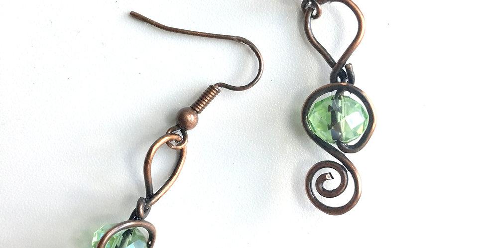 Green Sparkles & Spirals