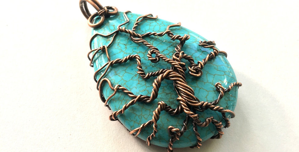 "Howlite & Copper ""Tree"""