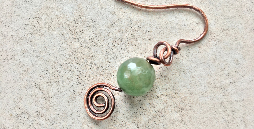 Green Aventurine & Spiral