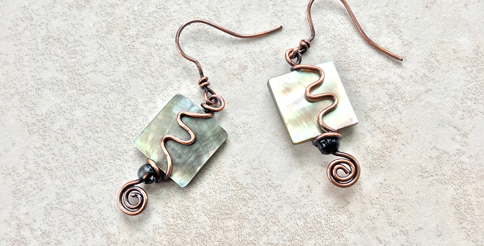 Abalone Squares & Copper