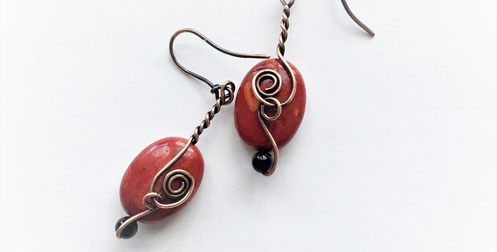 Coral Oval Beads