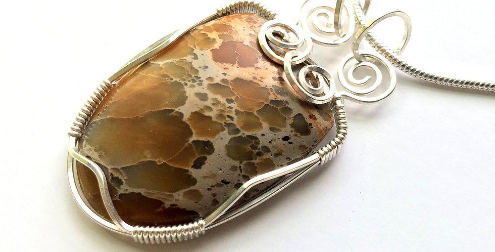 Sea Sediment Jasper in Sterling Silver