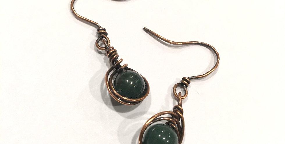 Herringbone Weave & Agate Beads