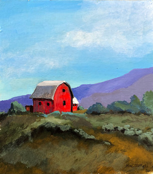 Red Barn & Purple Mountains