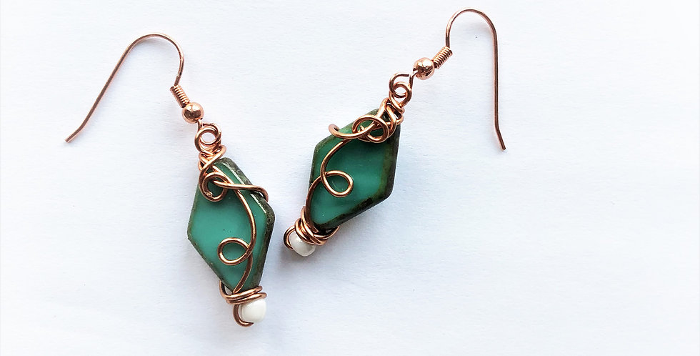 Czech Glass Beads in Bright Copper